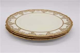 Antique Royal Doulton Gold Encrusted Dinner Plates, set