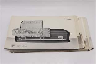 Lot of 14 Vintage National Casket Co. Salesman Sample