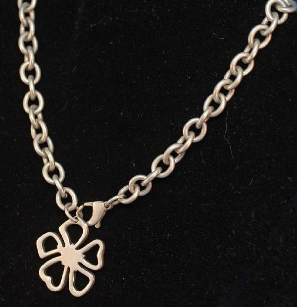 """4: Tiffany """"Shamrock"""" Necklace"""
