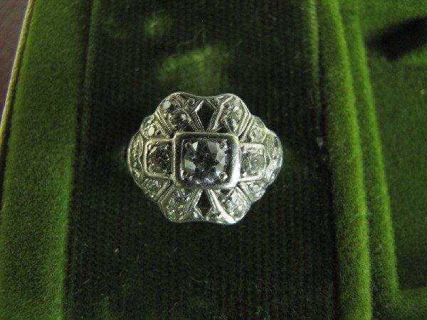 5A: Art Deco Platinum and Diamond Ring