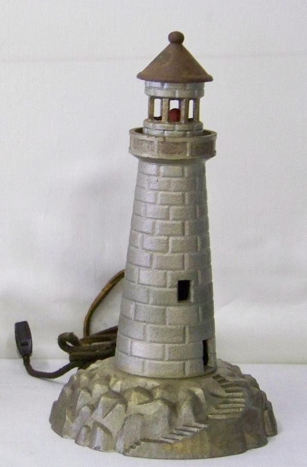 17: 1920's Cast Iron Lighhouse Lamp