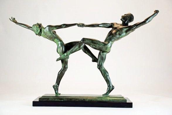 """153: Harriet Whitney Frishmuth """"Pas De Deux"""" Bronze Dan"""