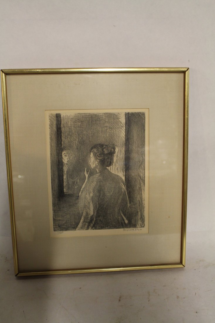 Raphael Soyer, signed and numbered lithograph #1/25,