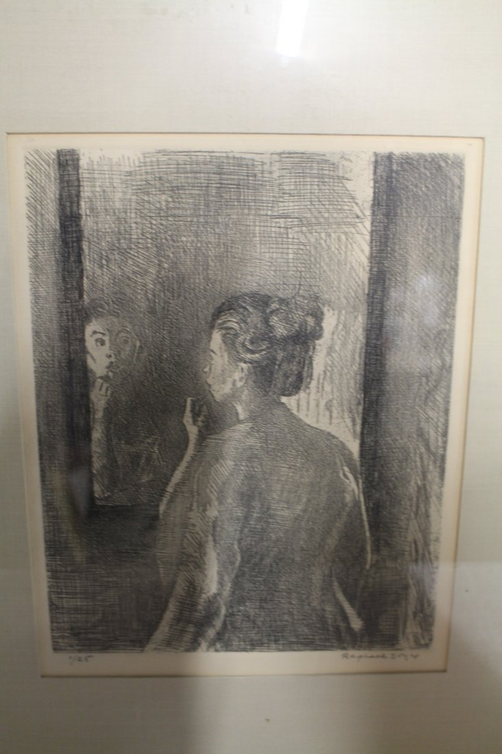 Raphael Soyer, signed and numbered lithograph #1/25, - 2
