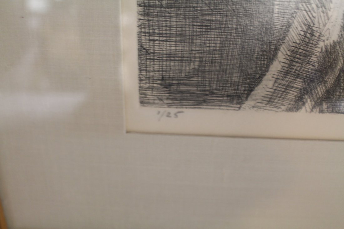 Raphael Soyer, signed and numbered lithograph #1/25, - 3