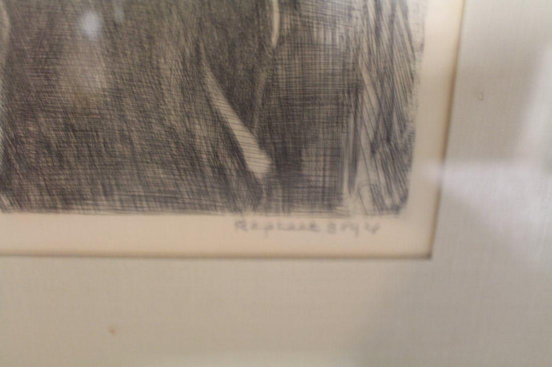 Raphael Soyer, signed and numbered lithograph #1/25, - 4