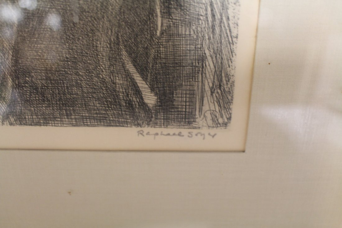 Raphael Soyer, signed and numbered lithograph #1/25, - 5