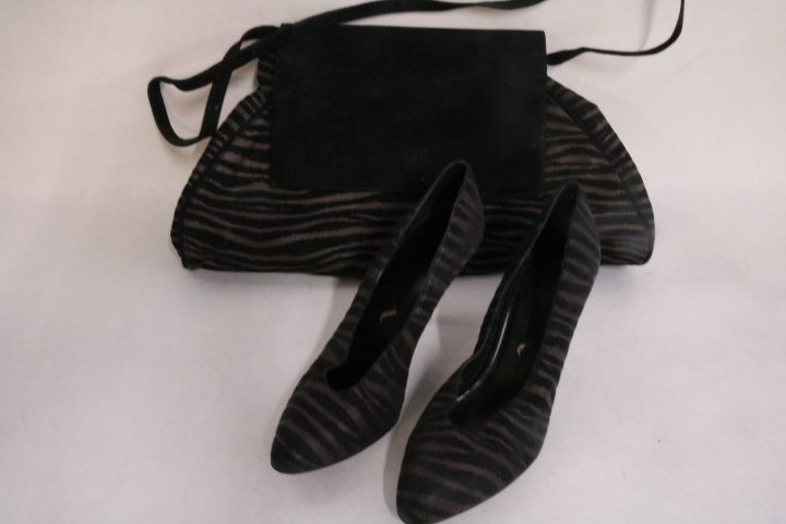 Vintage Leather Purse and matching Shoes by Nina, made