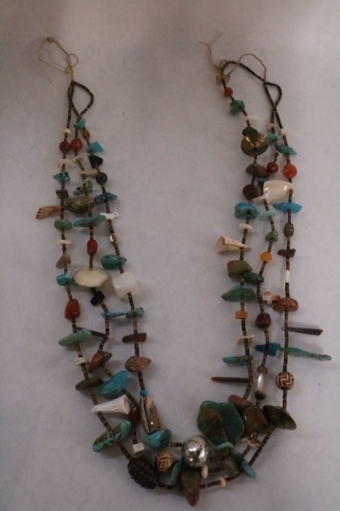 Medicine Man 3 strand Necklace by Nell Flower of Santa