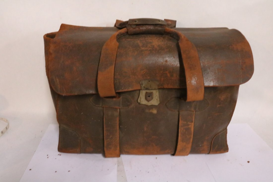 Antique 1900's Legal Leather File Case