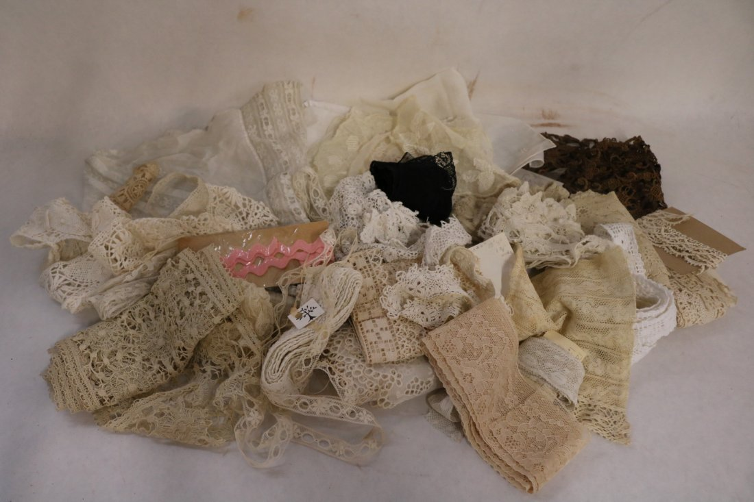 Lot of Antique Lace and Trims