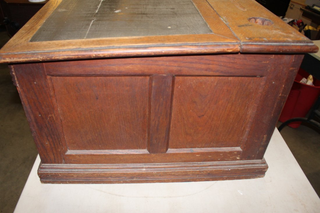 Vintage Spool Cabinet With Ink Well By Paine Furniture - 5