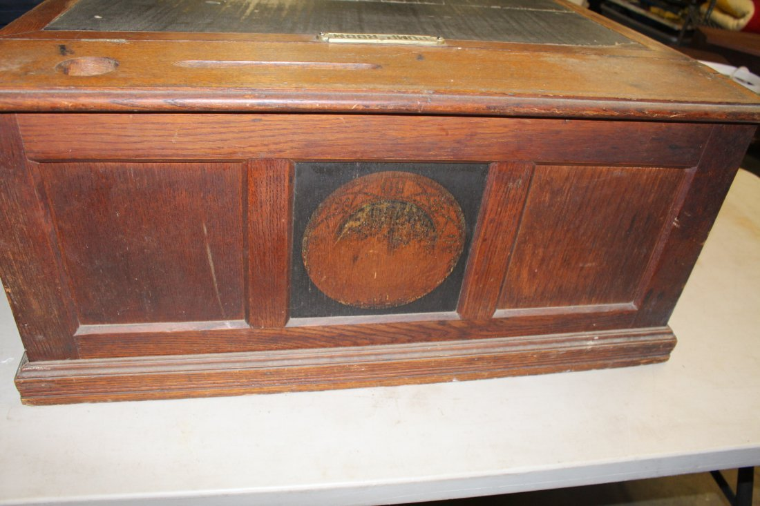 Vintage Spool Cabinet With Ink Well By Paine Furniture - 6