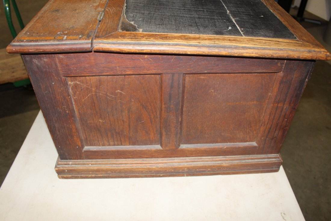 Vintage Spool Cabinet With Ink Well By Paine Furniture - 7