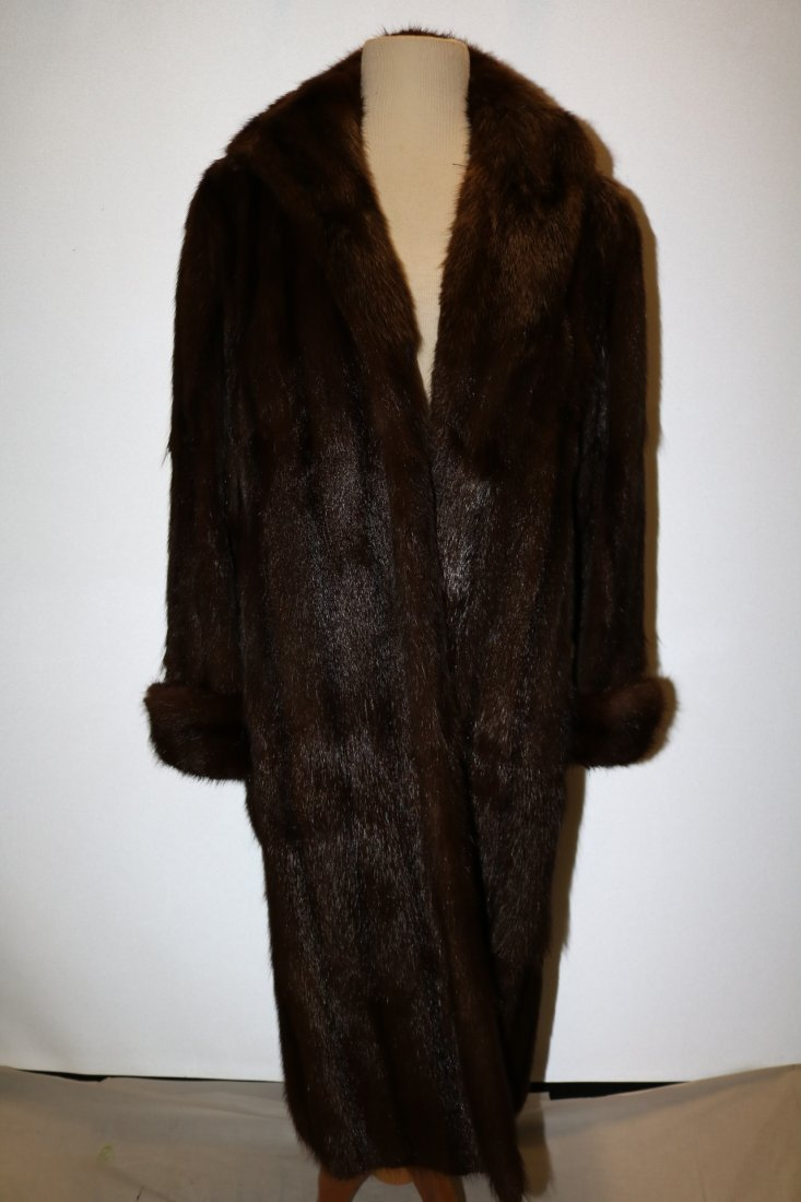 Ladies Vintage Full Length Brown Mink Coat
