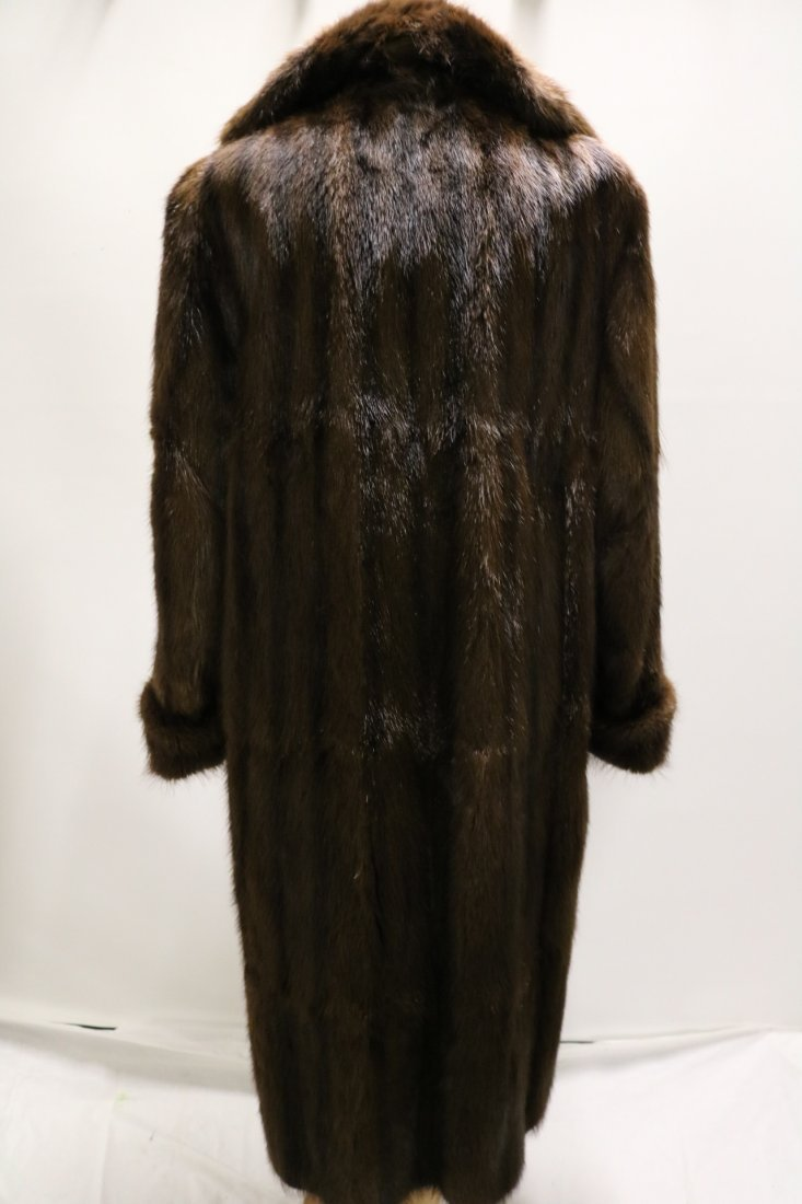 Ladies Vintage Full Length Brown Mink Coat - 5