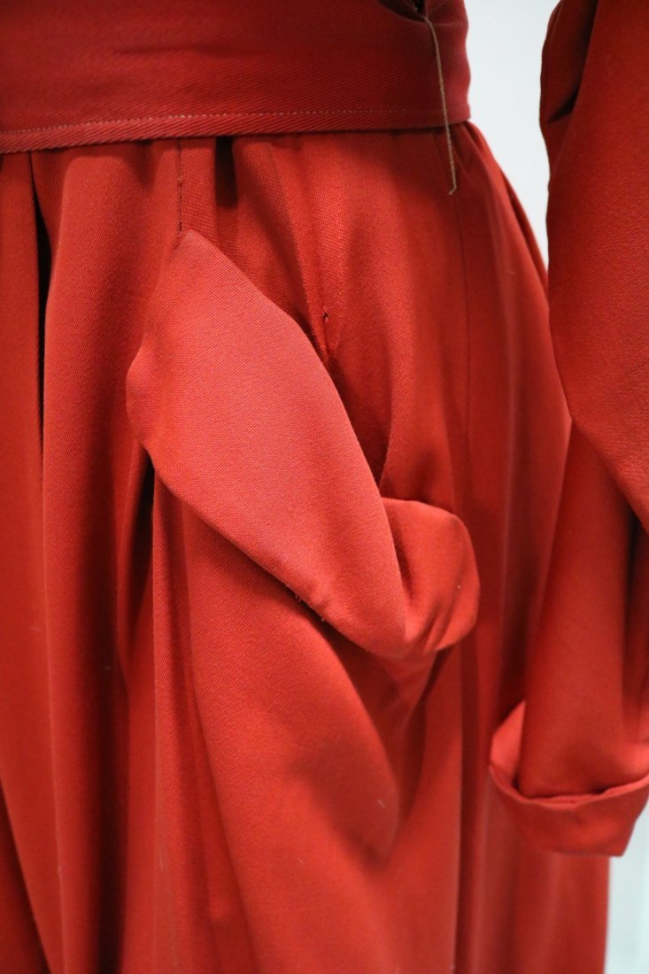 1940/50's Red Circle Skirt Coat by Aquatogs - 5