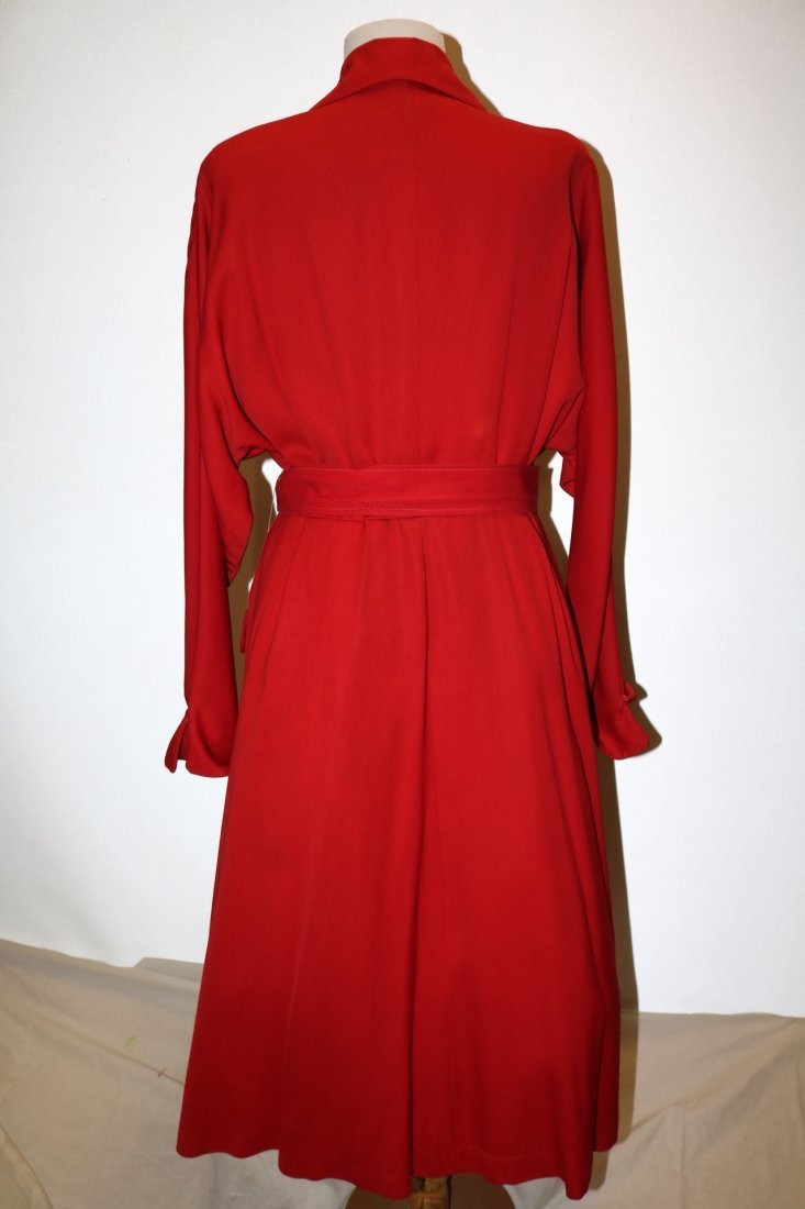 1940/50's Red Circle Skirt Coat by Aquatogs - 6