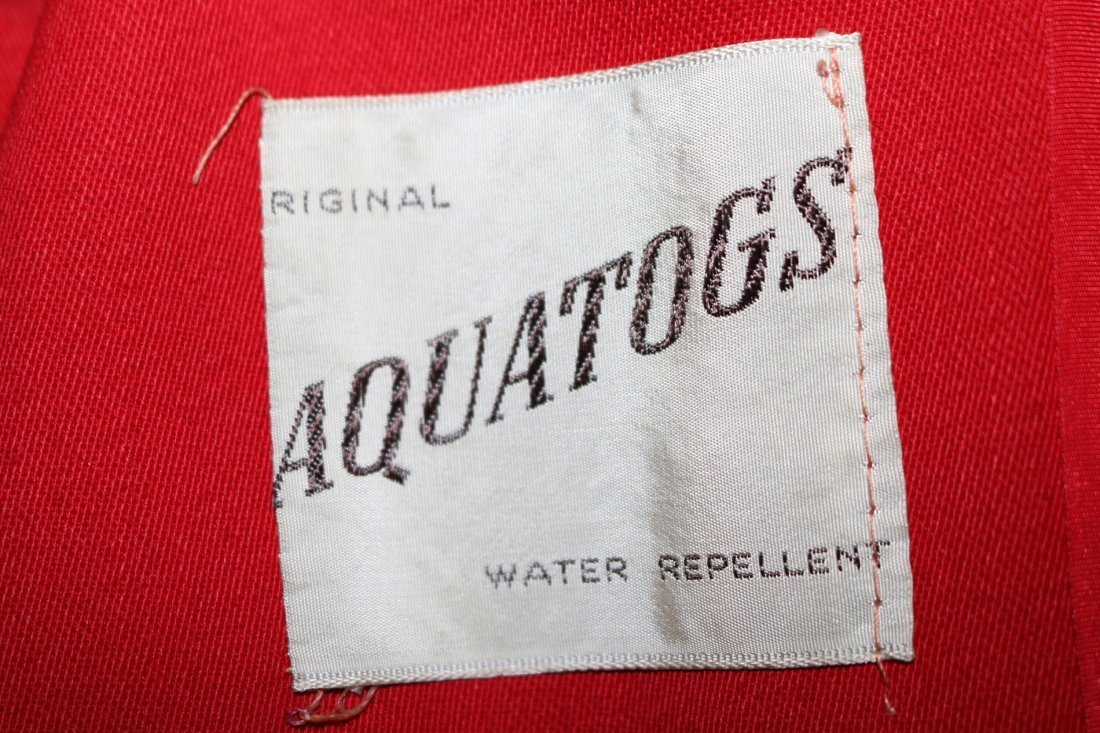 1940/50's Red Circle Skirt Coat by Aquatogs - 7