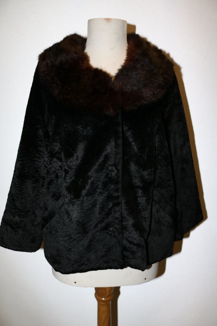 1950/60 Faux Sheered Beaver Swing Jacket with Mink