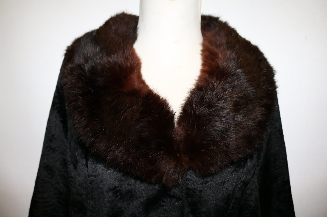 1950/60 Faux Sheered Beaver Swing Jacket with Mink - 4