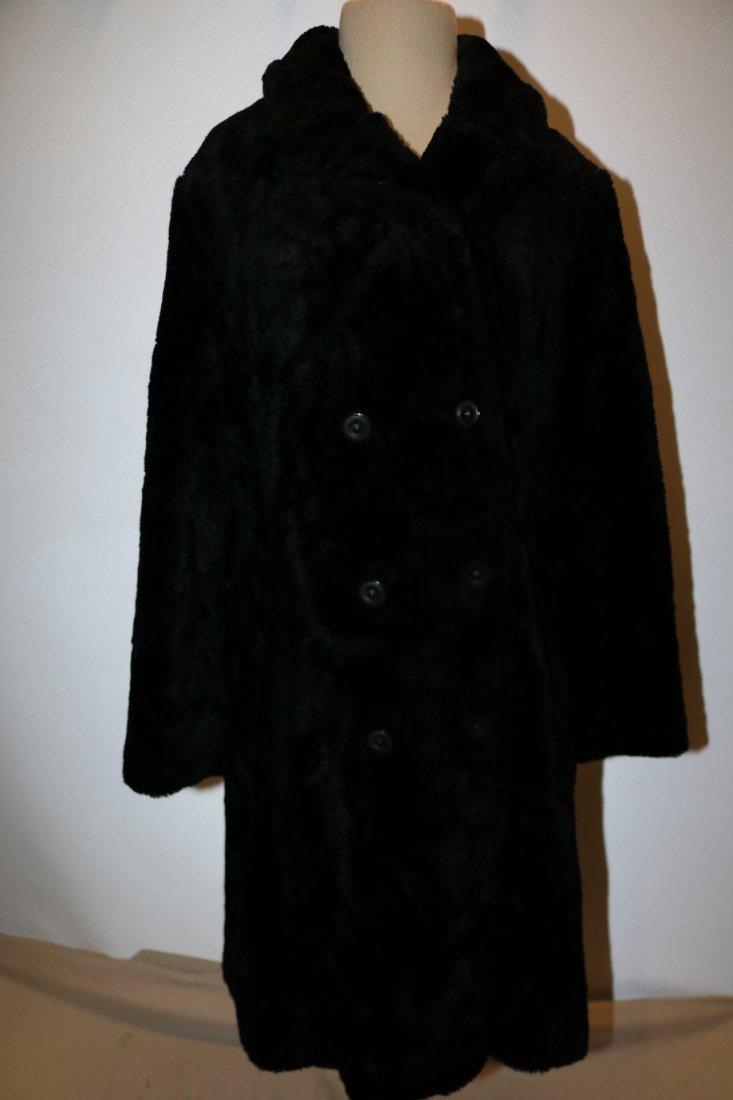 Vintage 1960's Faux Fur Coat by White Bear of Le Paul