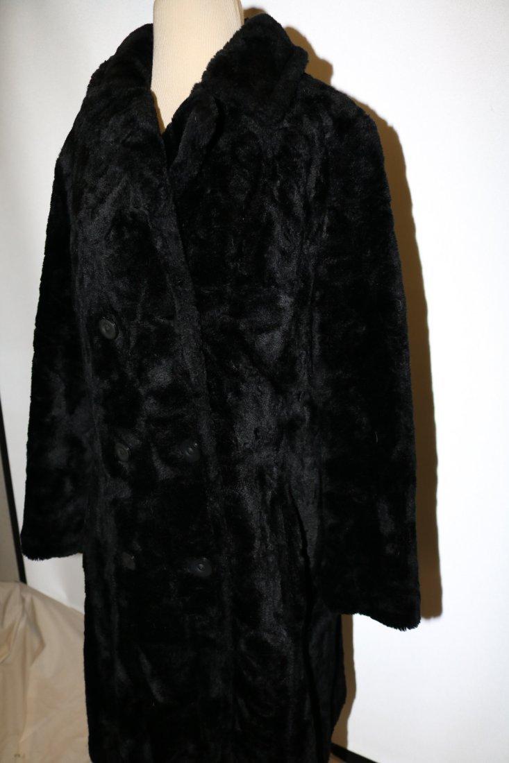 Vintage 1960's Faux Fur Coat by White Bear of Le Paul - 3
