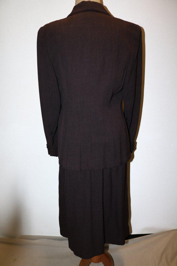 1940's 2 piece Skirt & Jacket set, Purple Pin Stripe, - 5