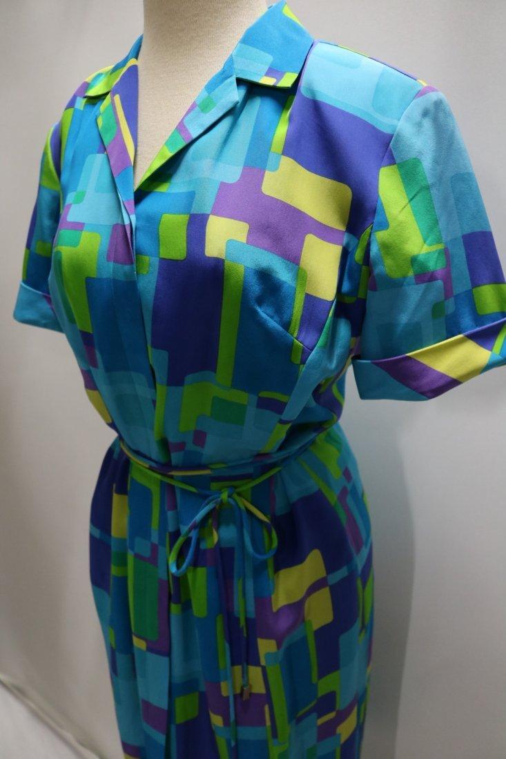1980's August Silk Shirt Dress, size 8 - 3