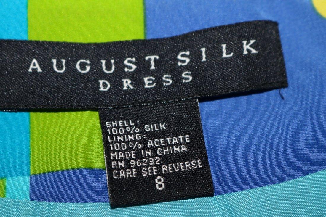 1980's August Silk Shirt Dress, size 8 - 5