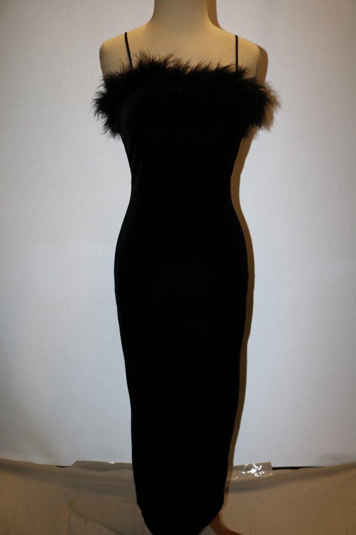 Black Velvet Spaghetti Strap Wiggle Maxi Dress/Gown