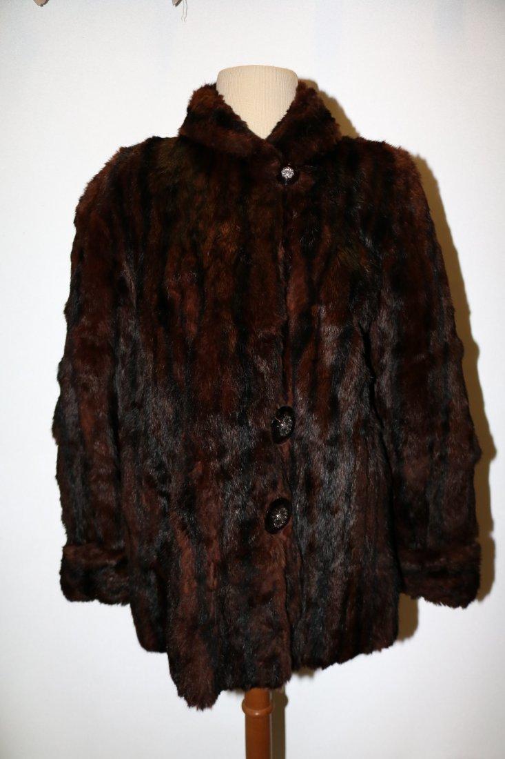1950's Dark Brown Mink Swing Style Jacket