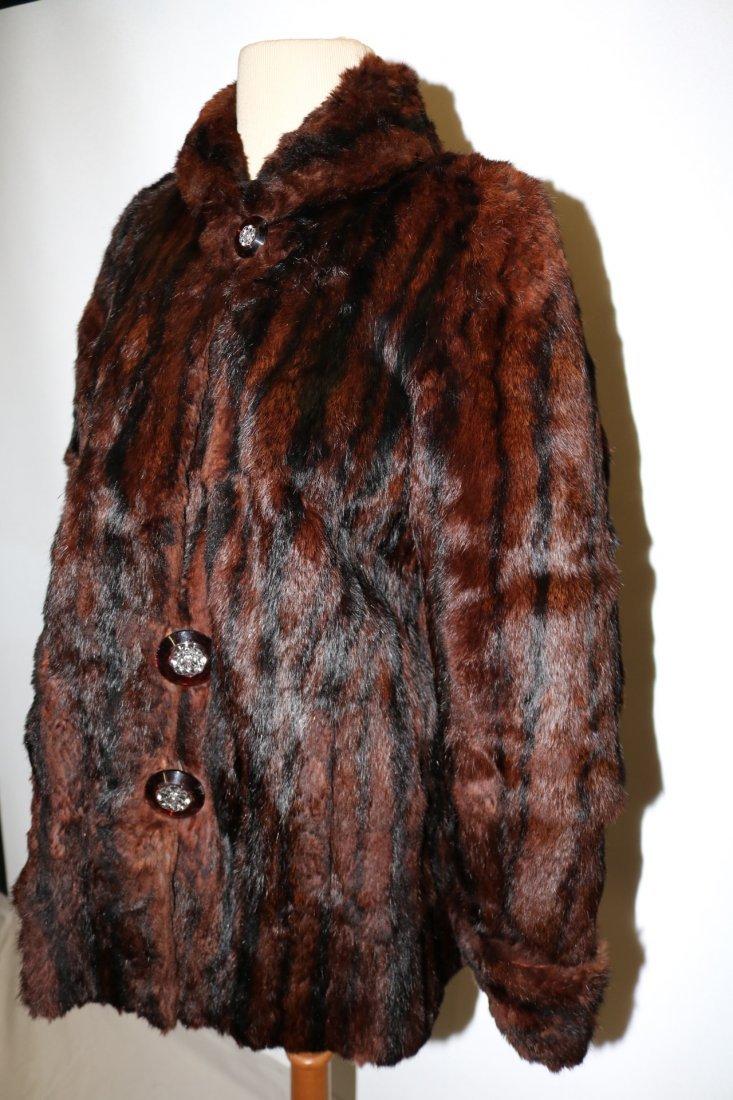 1950's Dark Brown Mink Swing Style Jacket - 4
