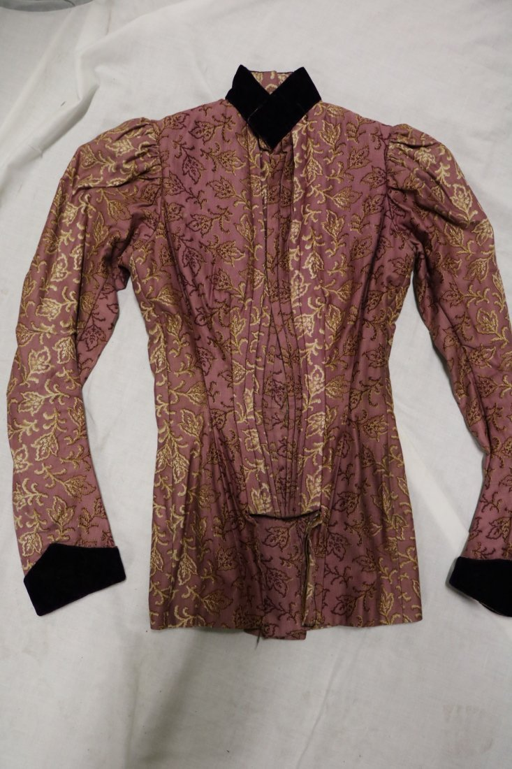 Purple & Gold Victorian Bodice in Cotton & Velvet