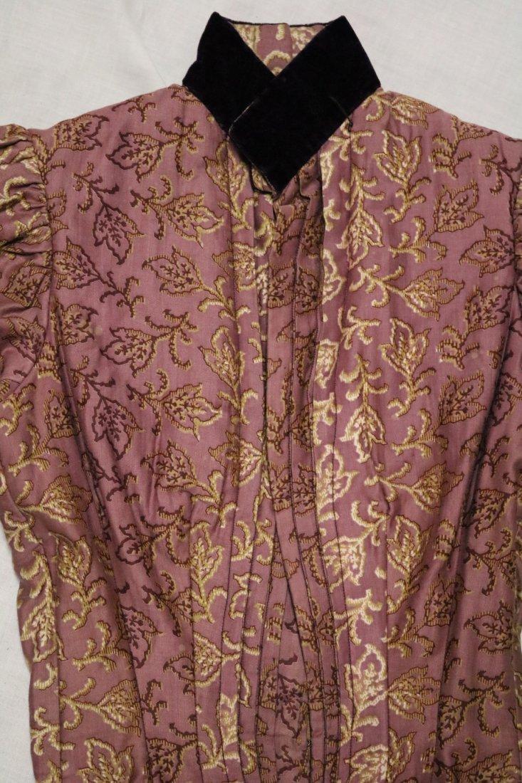Purple & Gold Victorian Bodice in Cotton & Velvet - 2