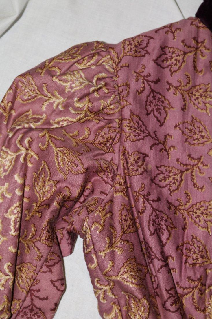 Purple & Gold Victorian Bodice in Cotton & Velvet - 3