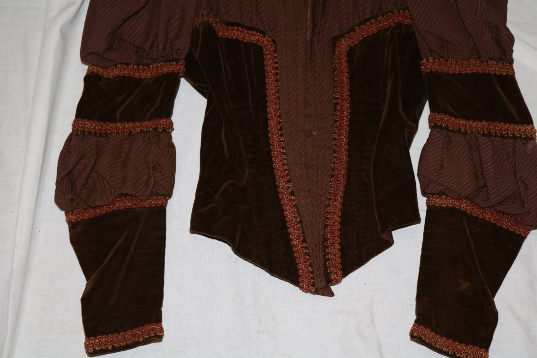 Brown Victorian Bodice with Velvet Trim and Cording - 3