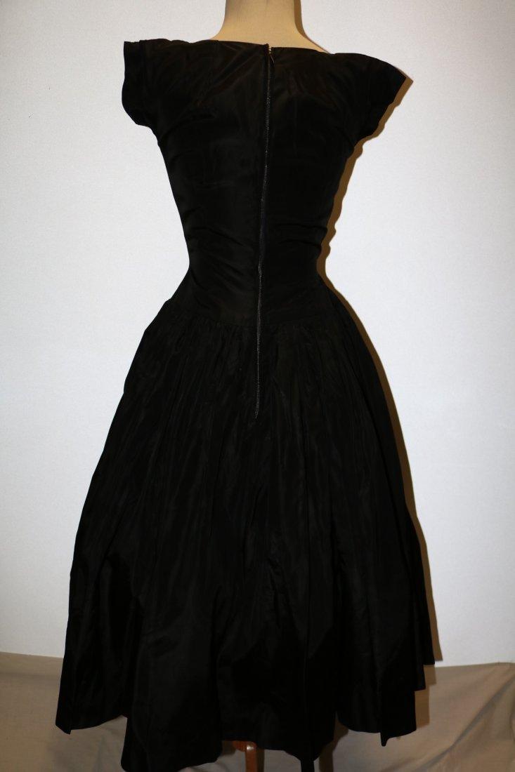 1950's Black Taffata & Velvet Party Princess Dress with - 6