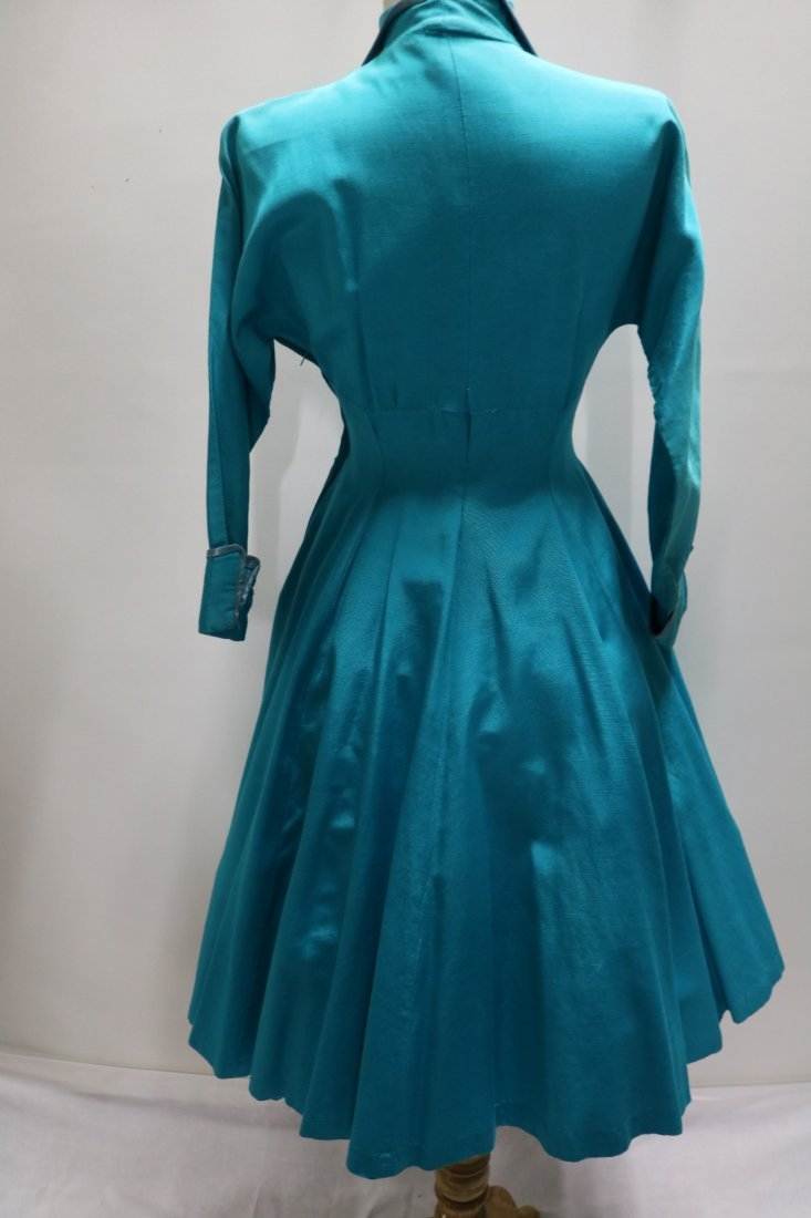1940's Turqouse Blue Cicle Skirt Skating Dress by Jane - 5
