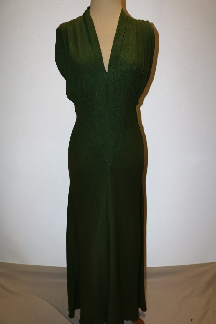 1930's Olive Green Arlean Andre' Creation