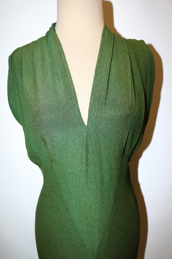 1930's Olive Green Arlean Andre' Creation - 2