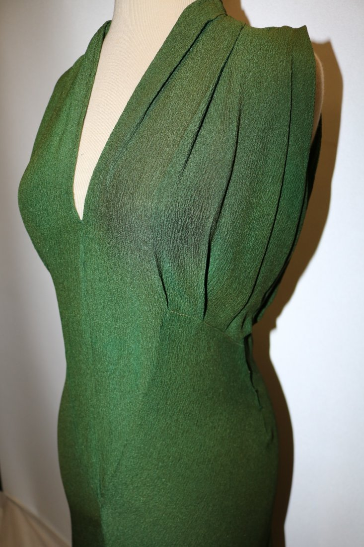 1930's Olive Green Arlean Andre' Creation - 3
