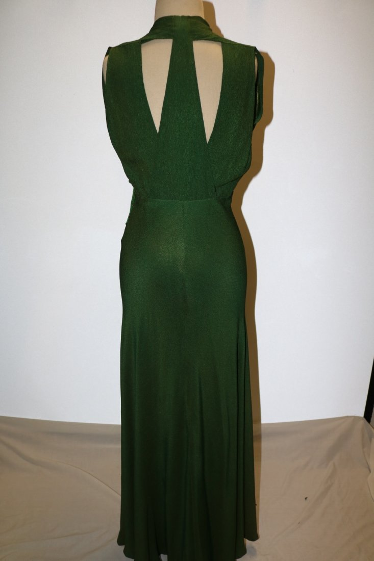 1930's Olive Green Arlean Andre' Creation - 4