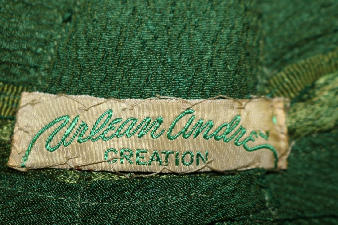 1930's Olive Green Arlean Andre' Creation - 6