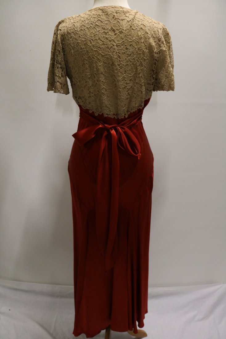 1930's Lace & Satin Mermaid Dress - 6