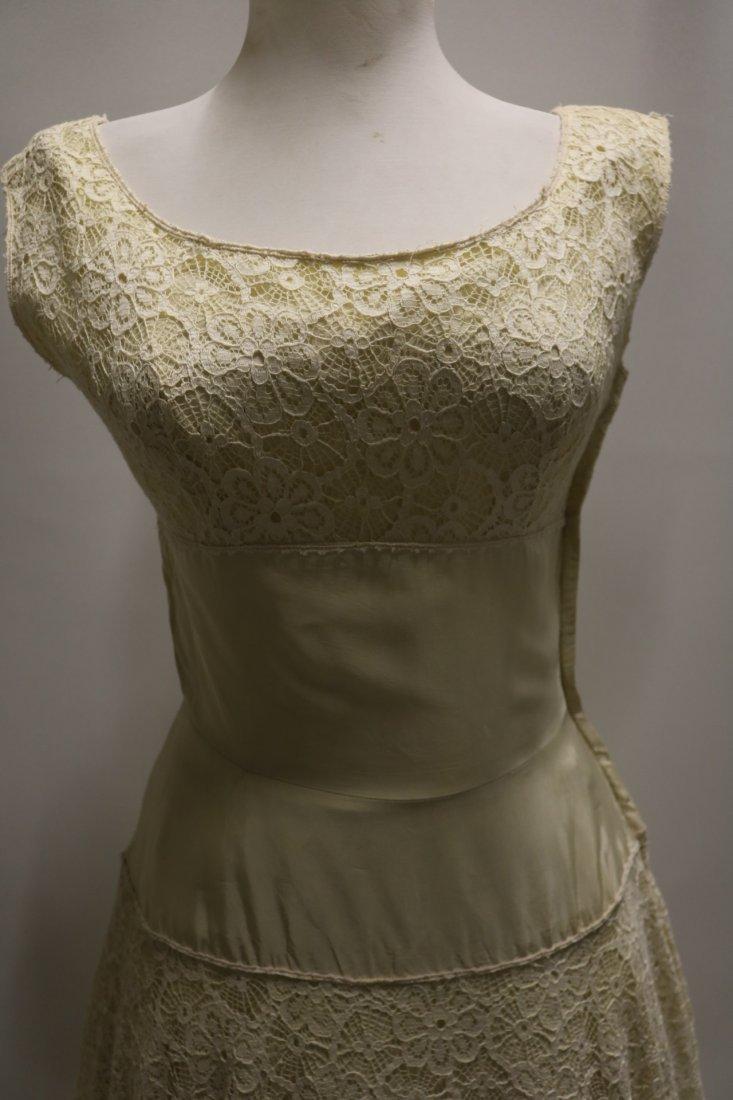 1940's Fit & Flare off White Lace & Taffeta Princess - 2