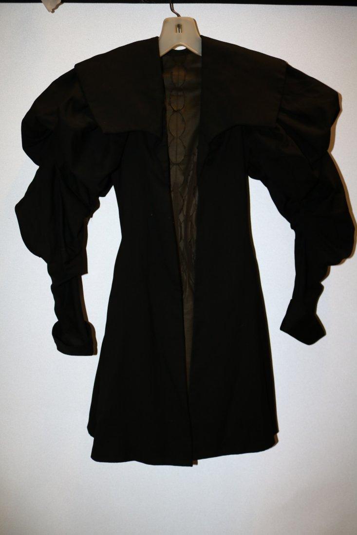 Black Victorian Cotton Waist Coat