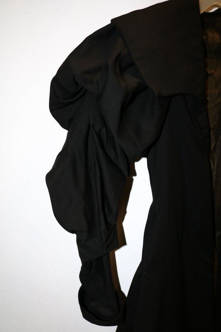 Black Victorian Cotton Waist Coat - 2