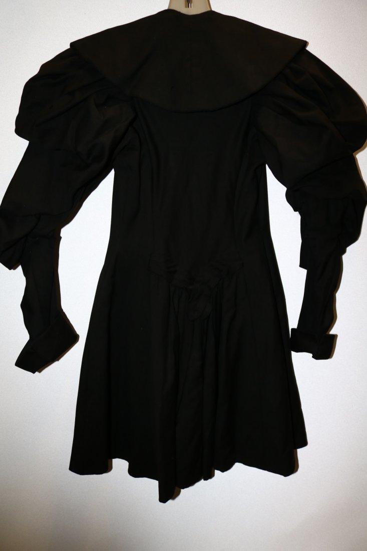 Black Victorian Cotton Waist Coat - 3
