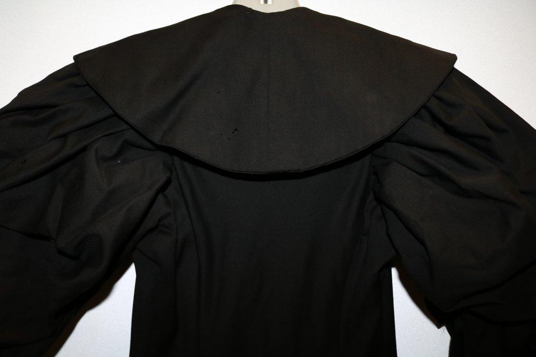 Black Victorian Cotton Waist Coat - 5